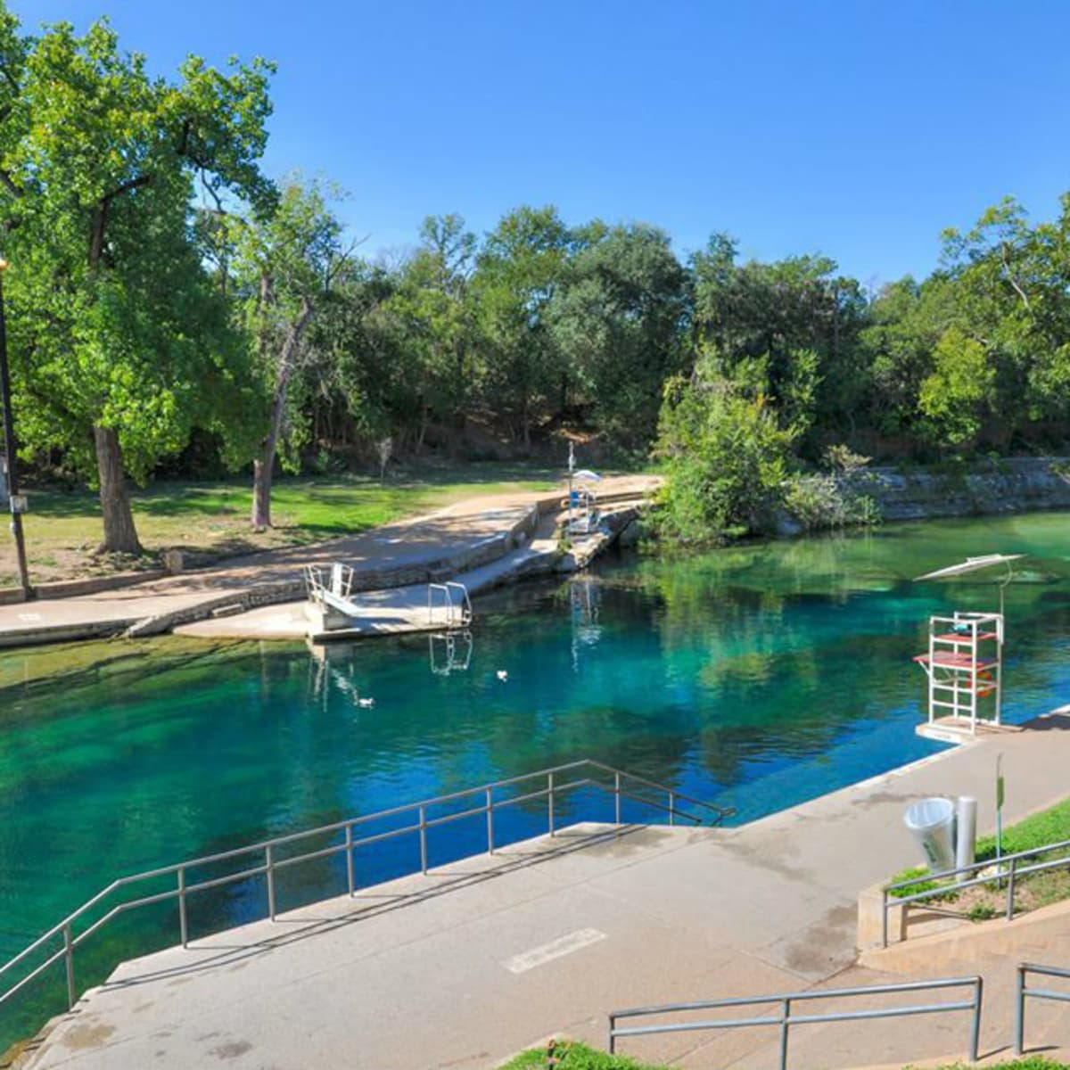 Barton Springs Pool during the day