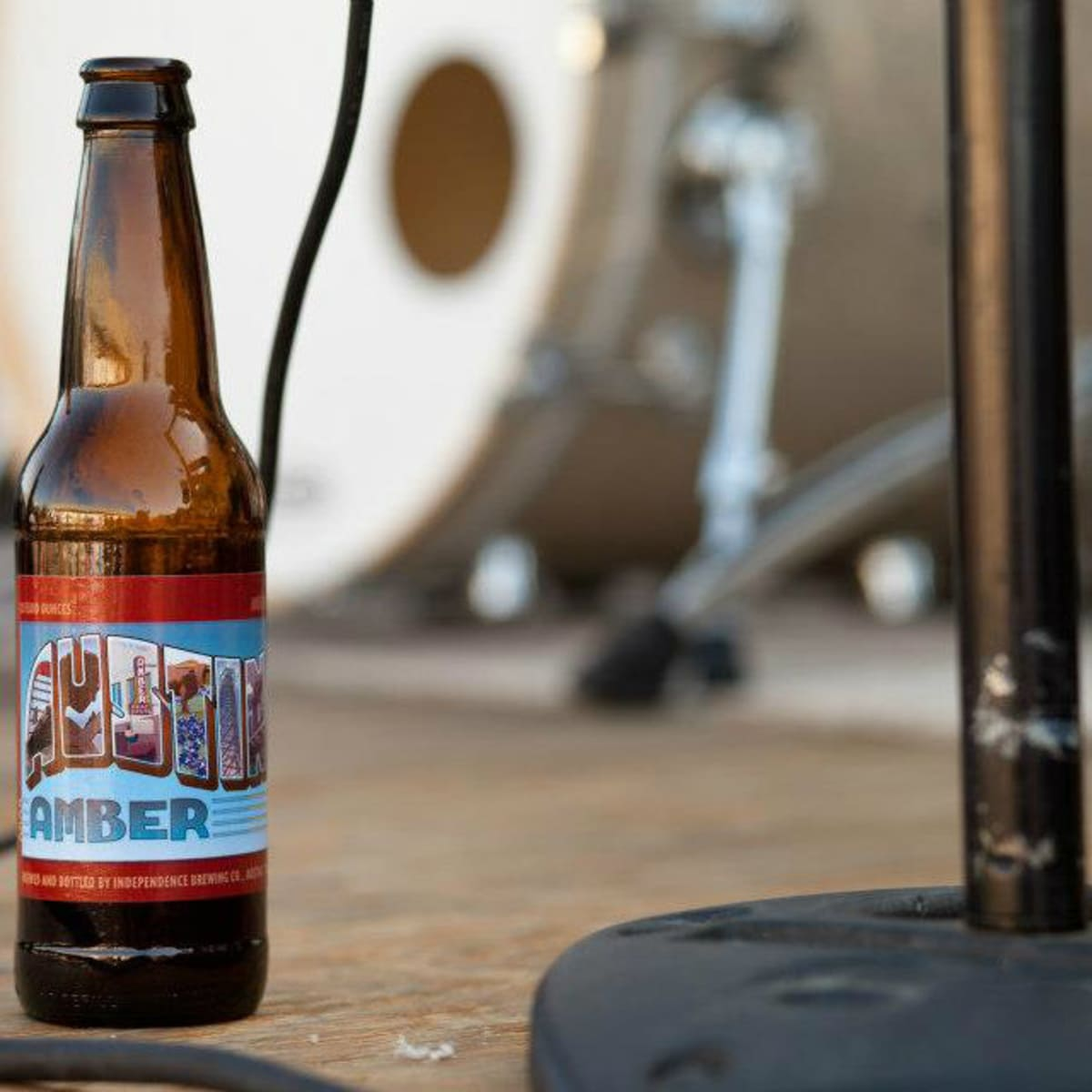 beer bottle of Independence Brewing Co. Austin Amber