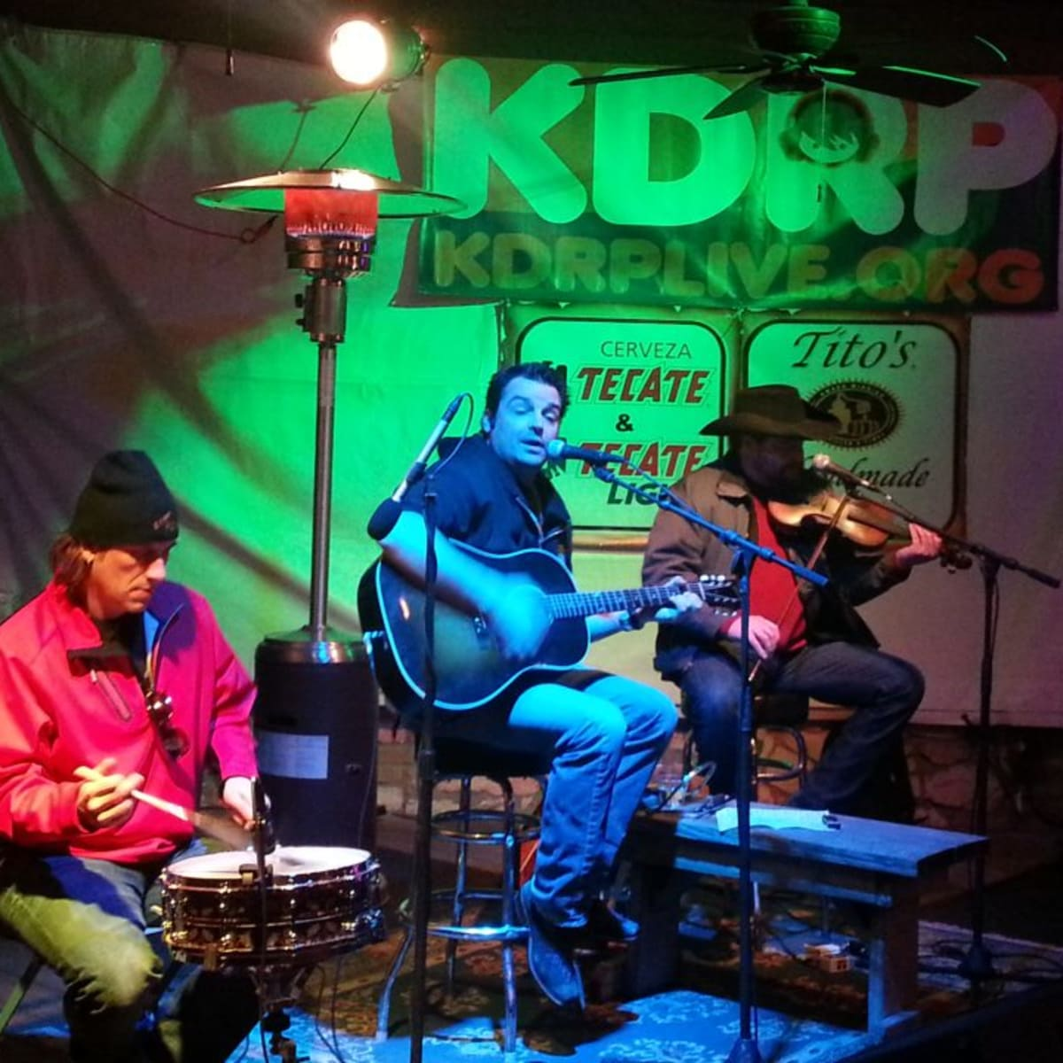 musicians performing at KDRP Live at Guero's