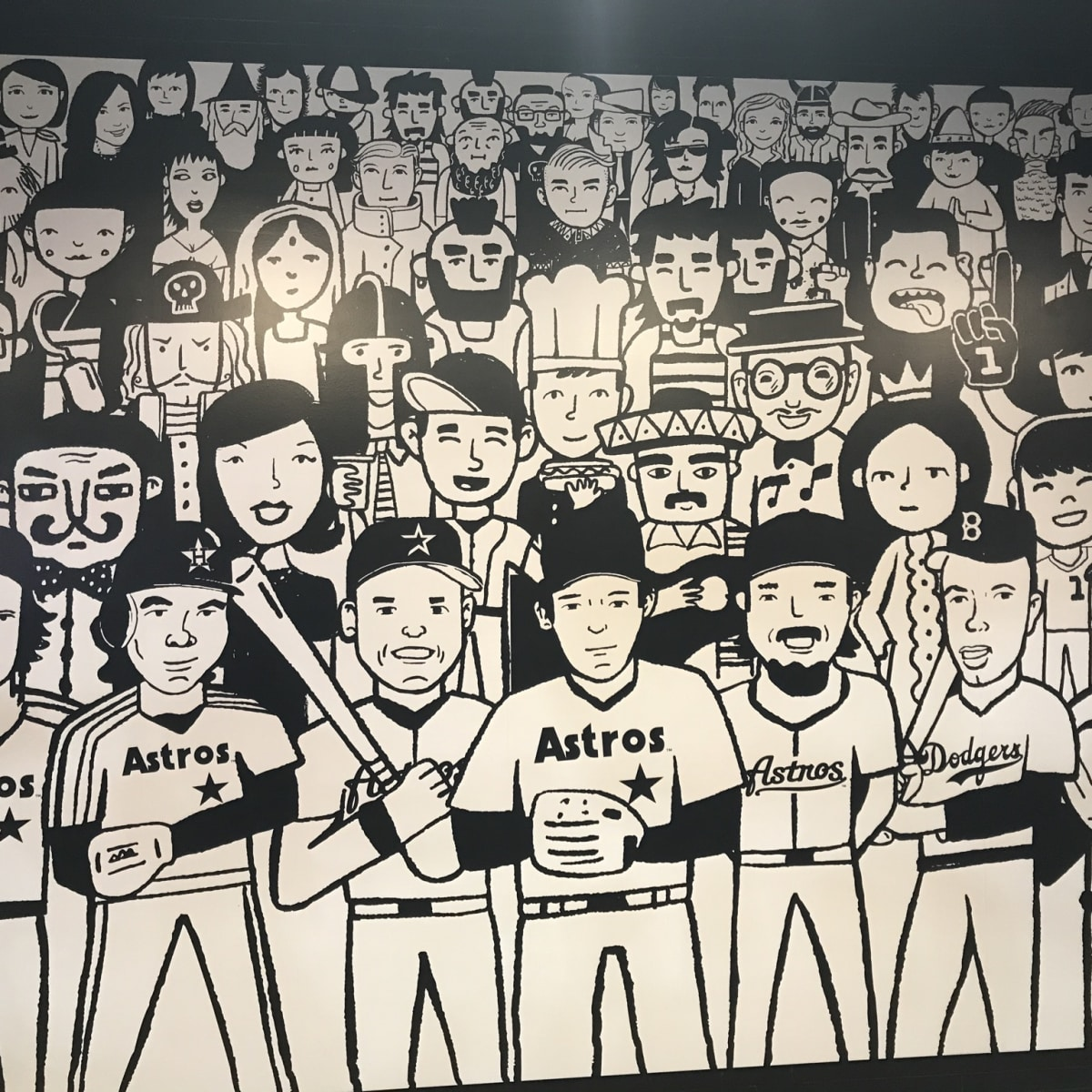 Astros Minute Maid park center field Torchy's Tacos mural