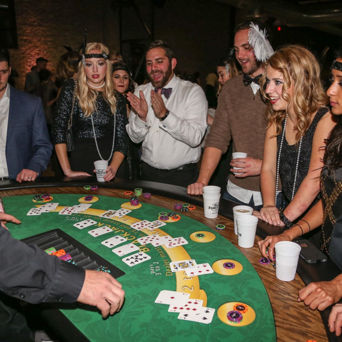 CultureMap Old Forester Bourbon Ball 2016 Blackjack Table Texas Poker Supply
