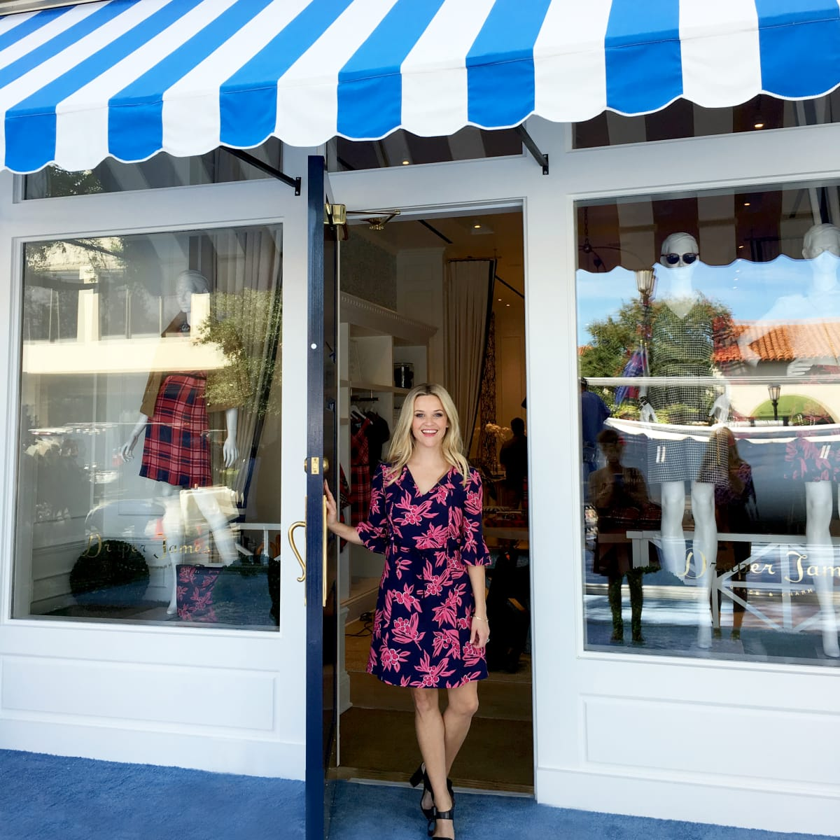 Reese Witherspoon at Draper James store opening in Dallas