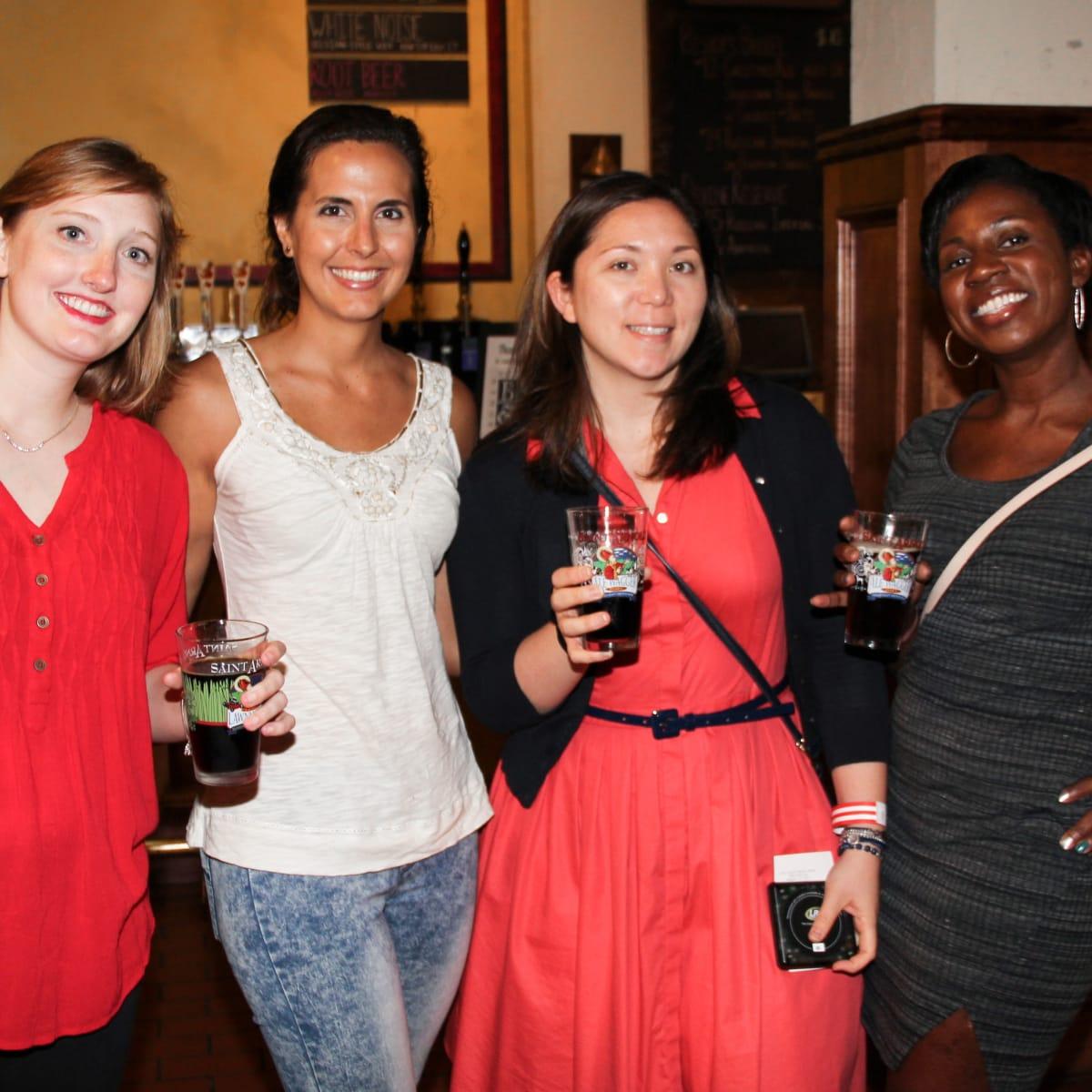 Houston Area Women's Center Young Leaders 7/16  Kate Goldsberry, Gaby Donatti, Lindsay Calvert, Shaneka Smith