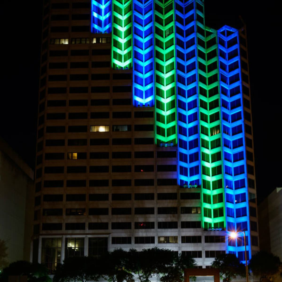 Kinetic Skyline light installation San Antonio