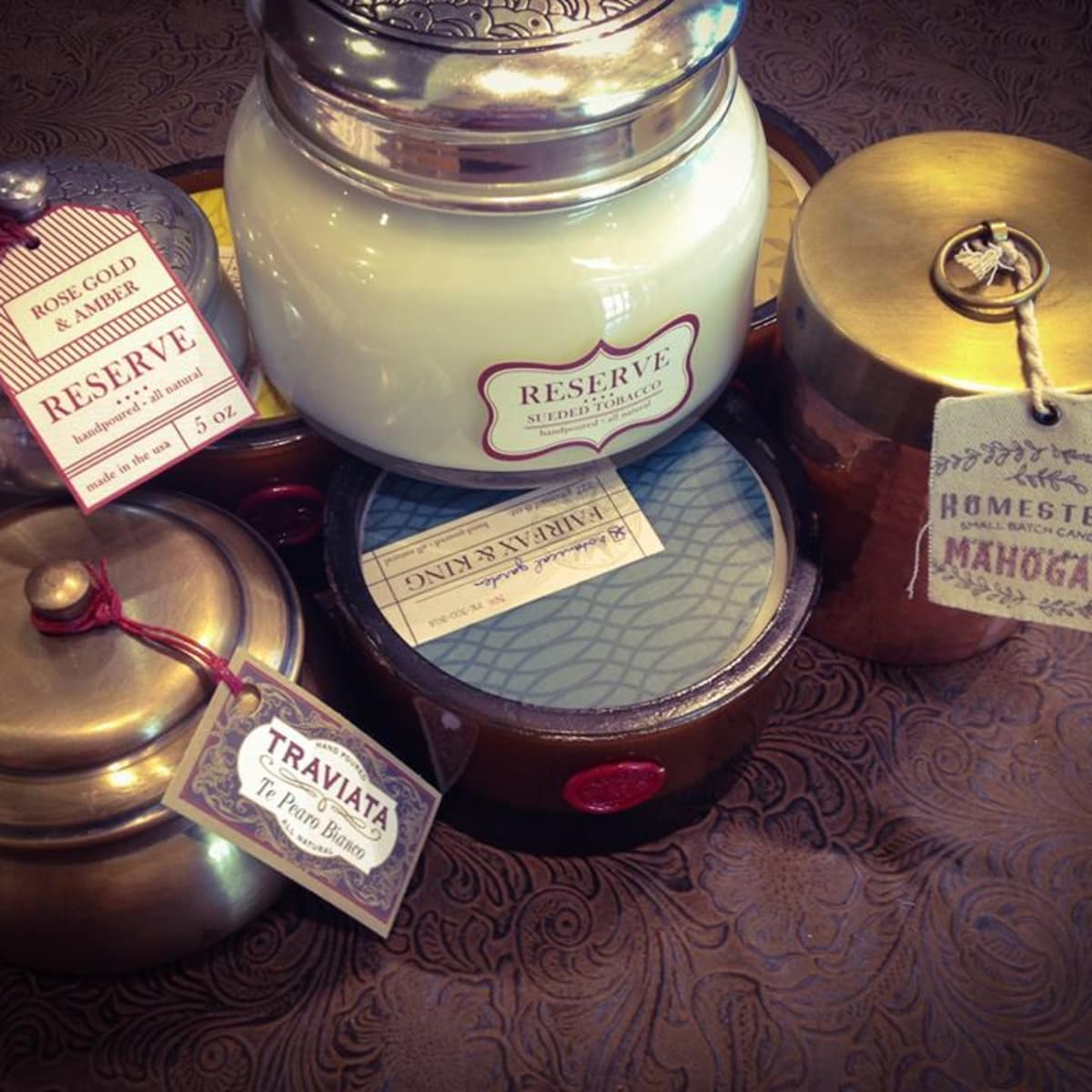 Candles from Frontier Texas General Store