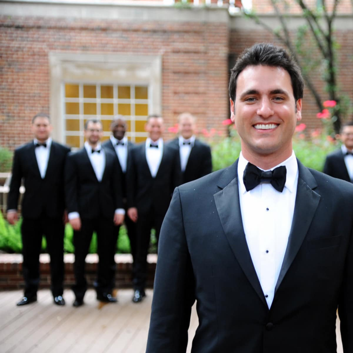 Houston, Chita Johnson wedding, June 2016, the groom and his wedding party