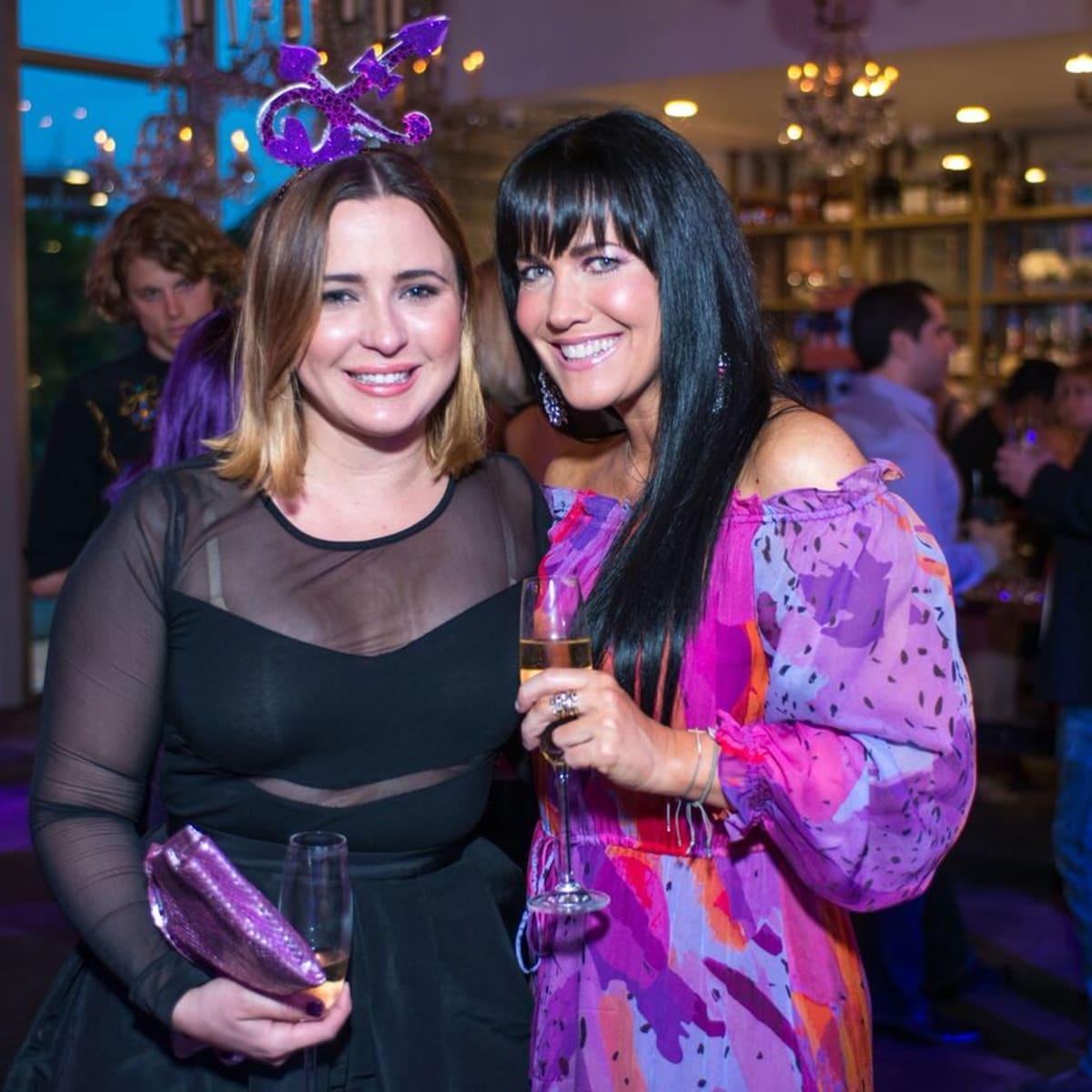 Purple party, Michelle Reynda de Taussig, Tiffany Halik