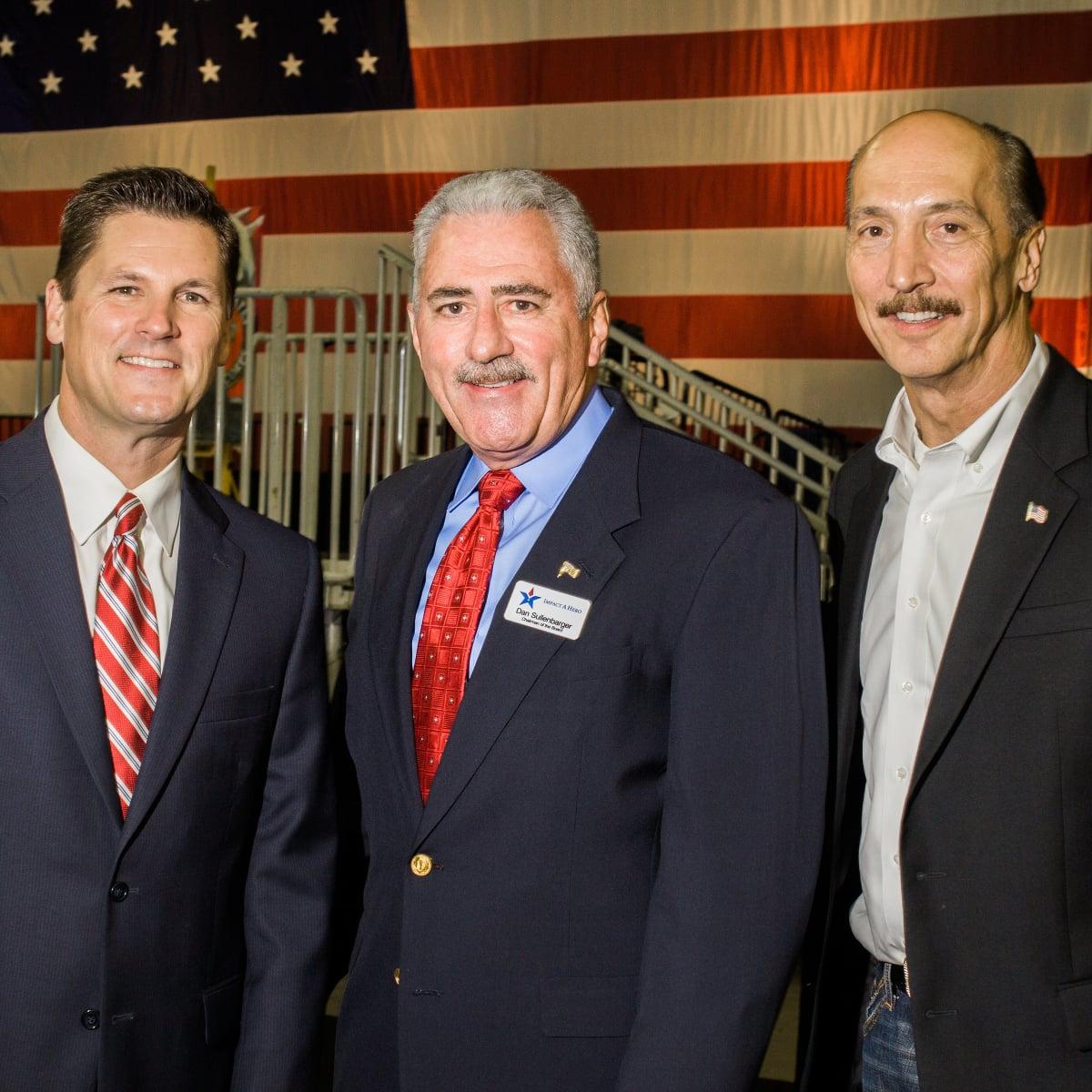 Houston, Impact A Hero Hall of Fame Gala, May 2016, Randy McIlvoy, Dan Sullenbarger, Jim Hoelker