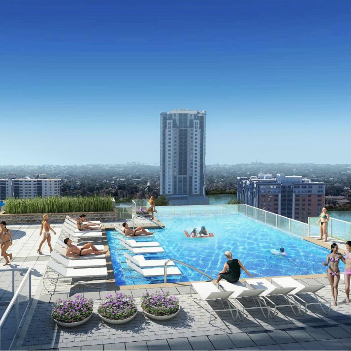 Millennium Rainey Street apartment pool