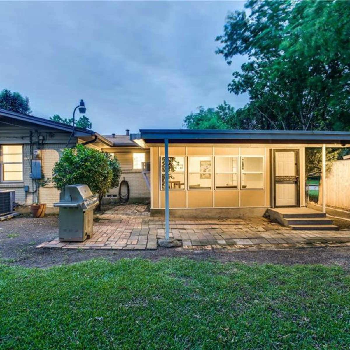 Backyard at 11207 Sinclair Ave in Dallas