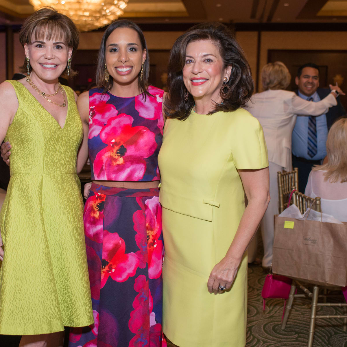 Latin Women's Initiative luncheon 5/16, Hallie Vanderhider, Lacey Dalcour Salas, Dancie Ware