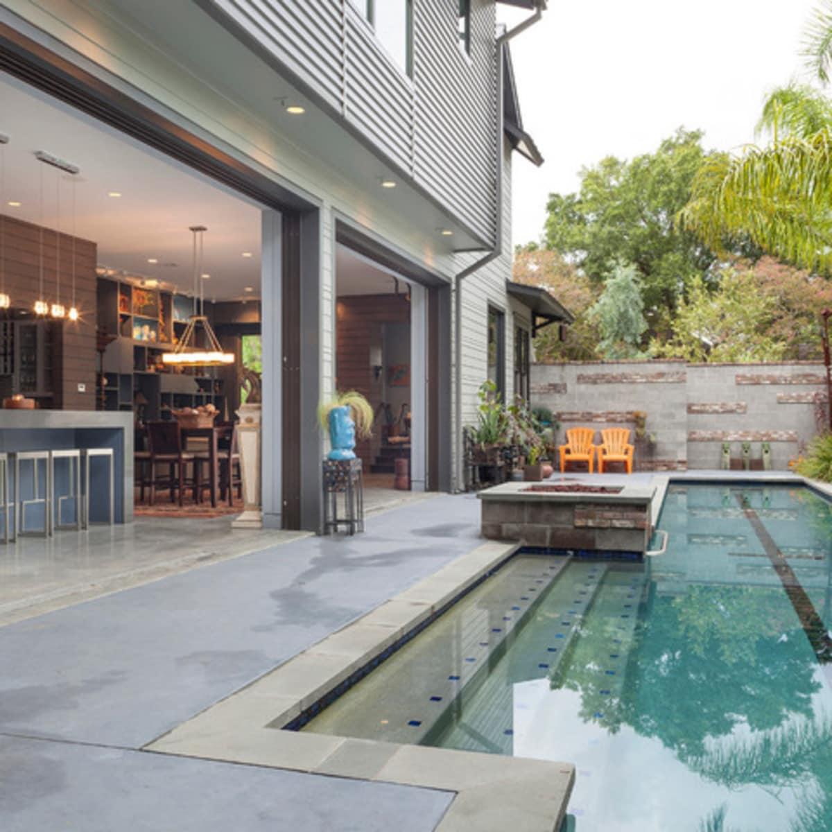 Houzz Houston Heights modern home tour pool