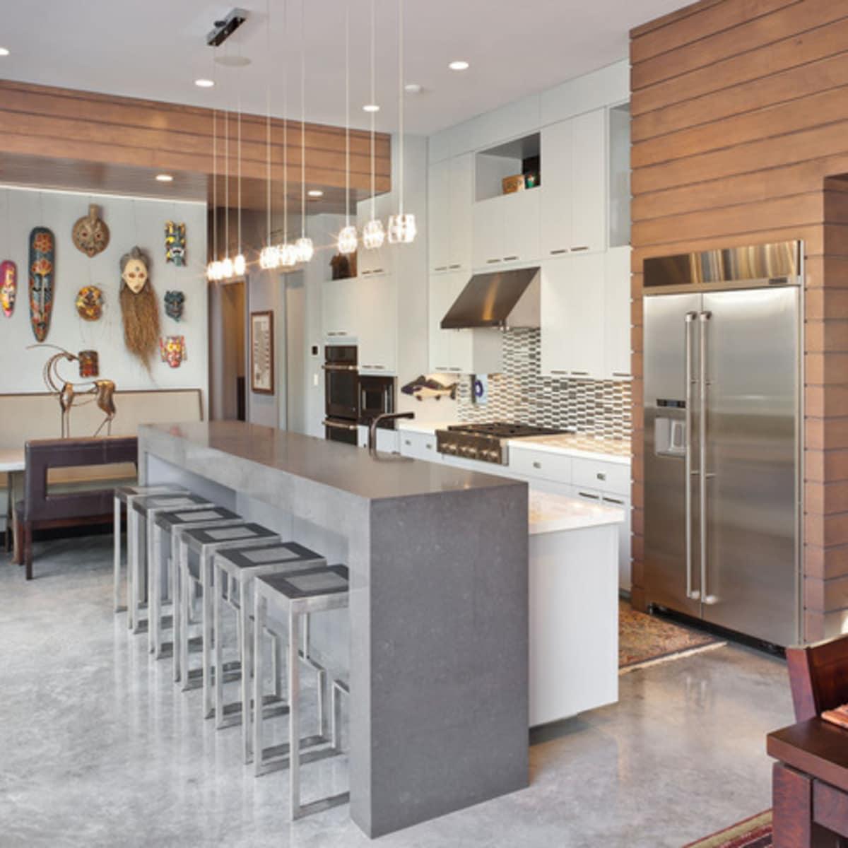 Houzz Houston Heights modern home tour kitchen