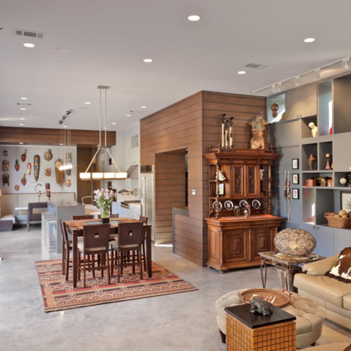 Houzz Houston Heights modern home tour living room