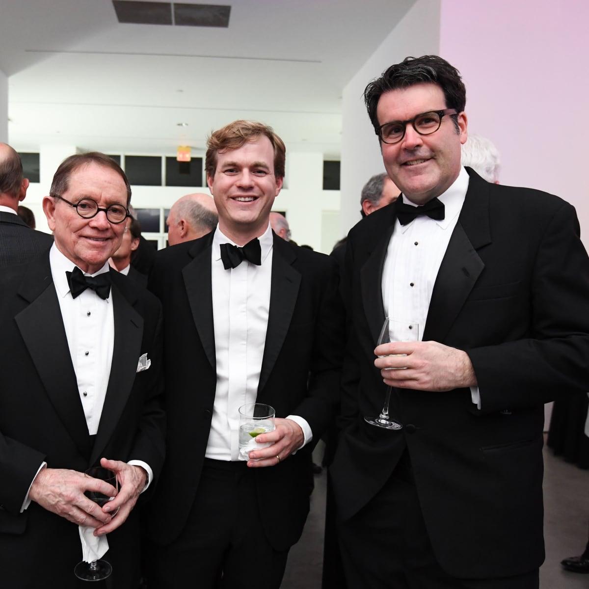 Bill Cannady, Tom Caughlin, and Menil Curator of Modern and Contemporary Art Toby Kamps at Men of Menil 2016