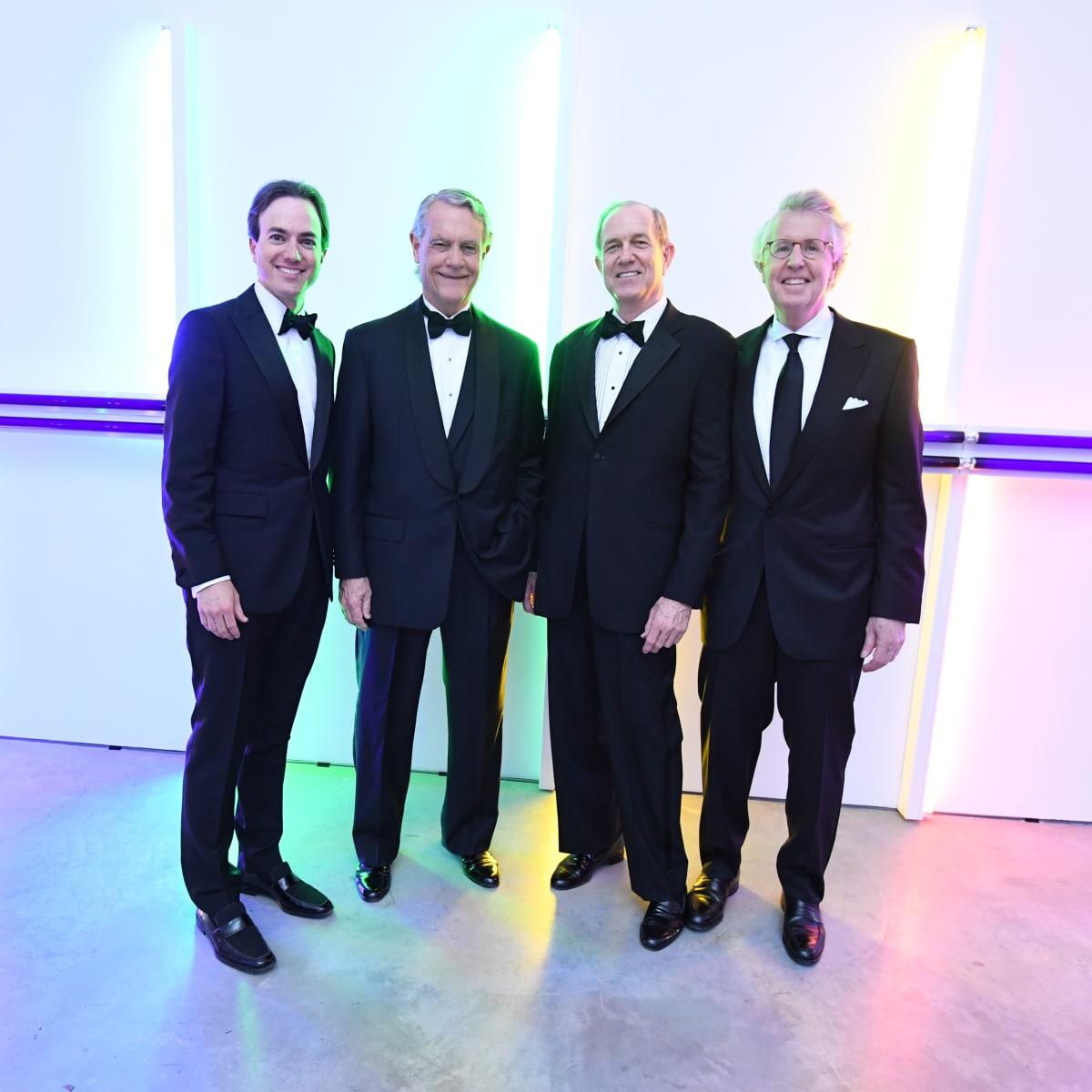 Men of Menil 2016 Co-Chairs Danny David, Bill Stewart, Brad Bucher, and George Kelly