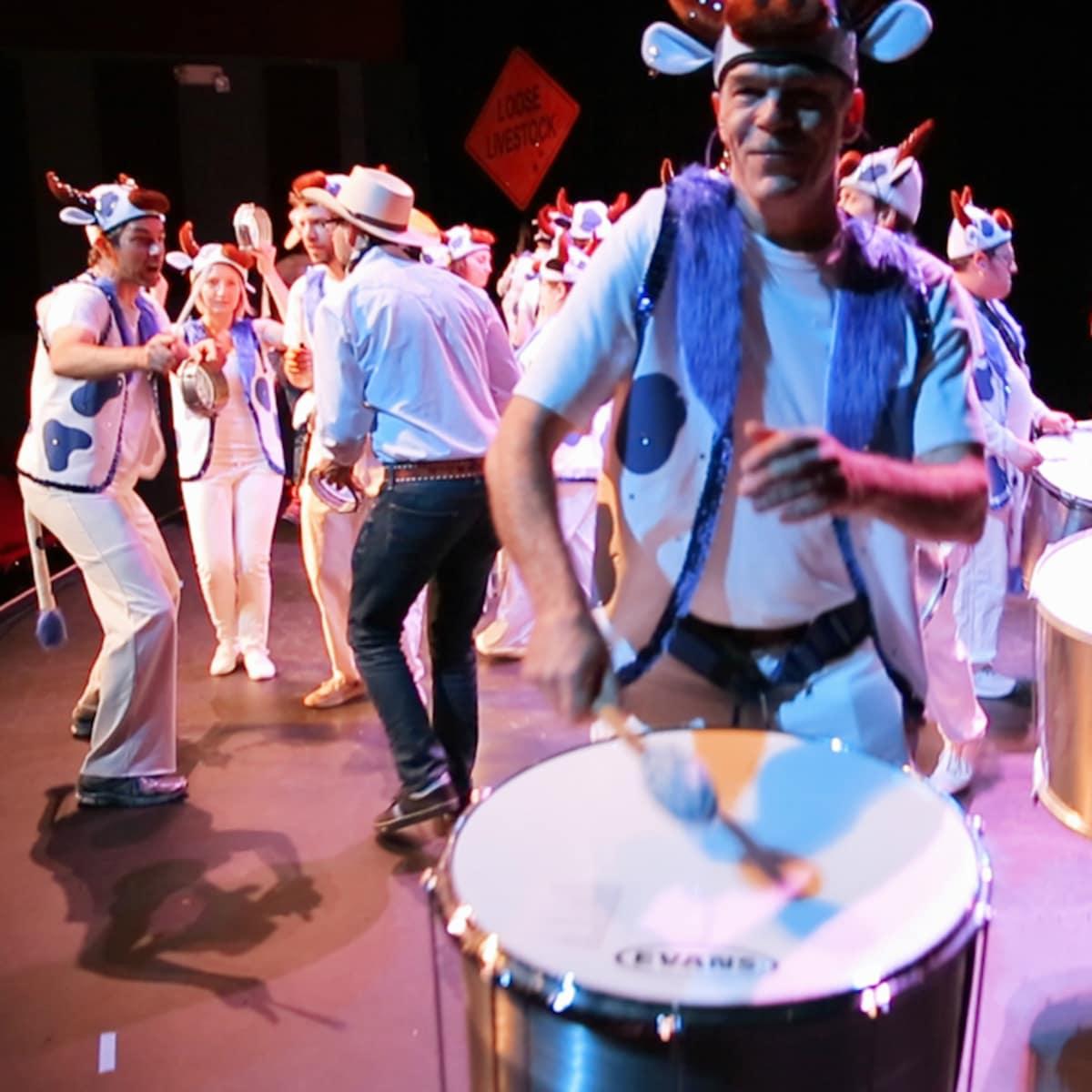 KLRU PBS Arts in Context Austin Samba School Texas! A Horse Opera Cattle Bateria 2016