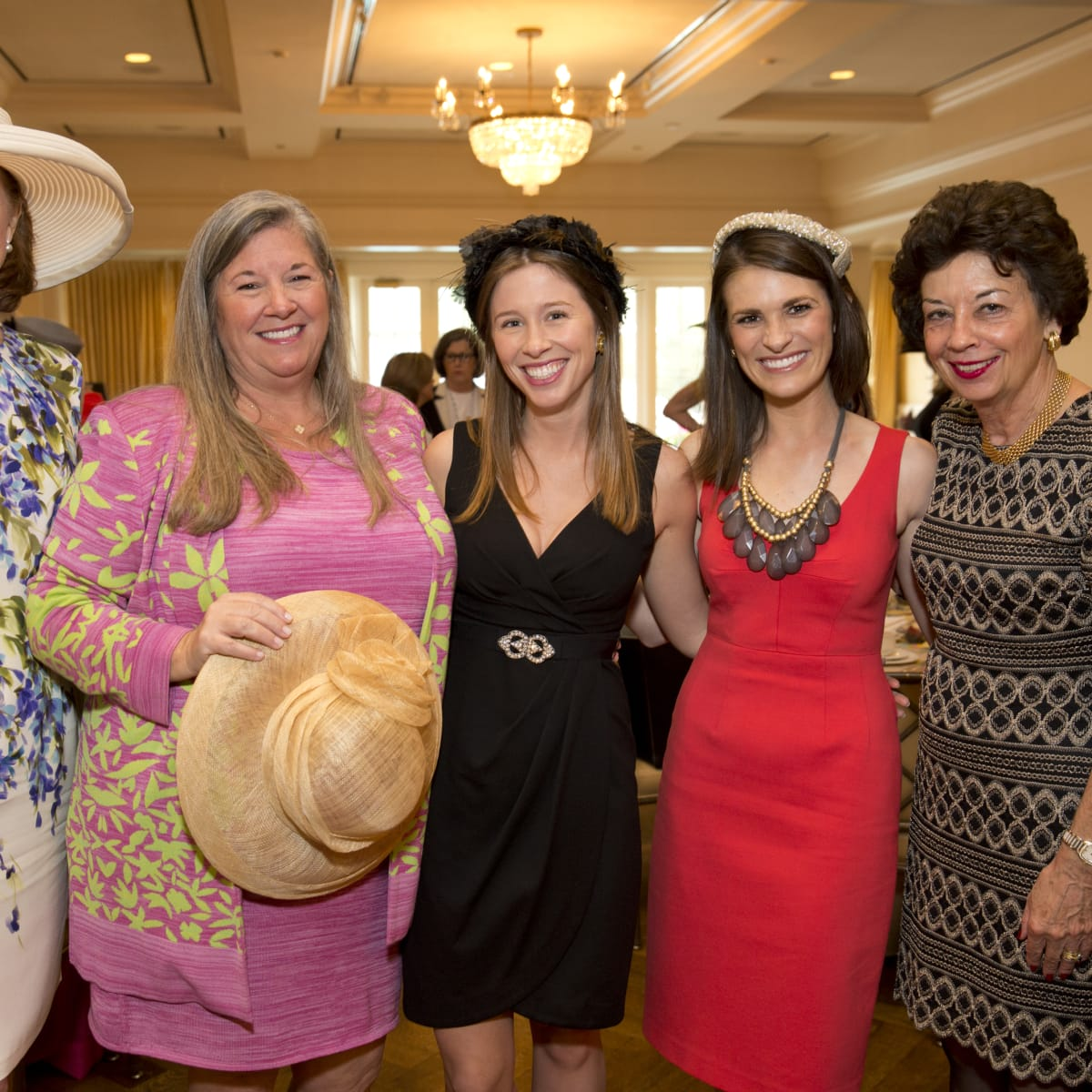 Hats Off to Mothers, March 2016, Martha Whilte, Brenda Watts, Sarah Watts, Jackie Sible, Kathy Goossen