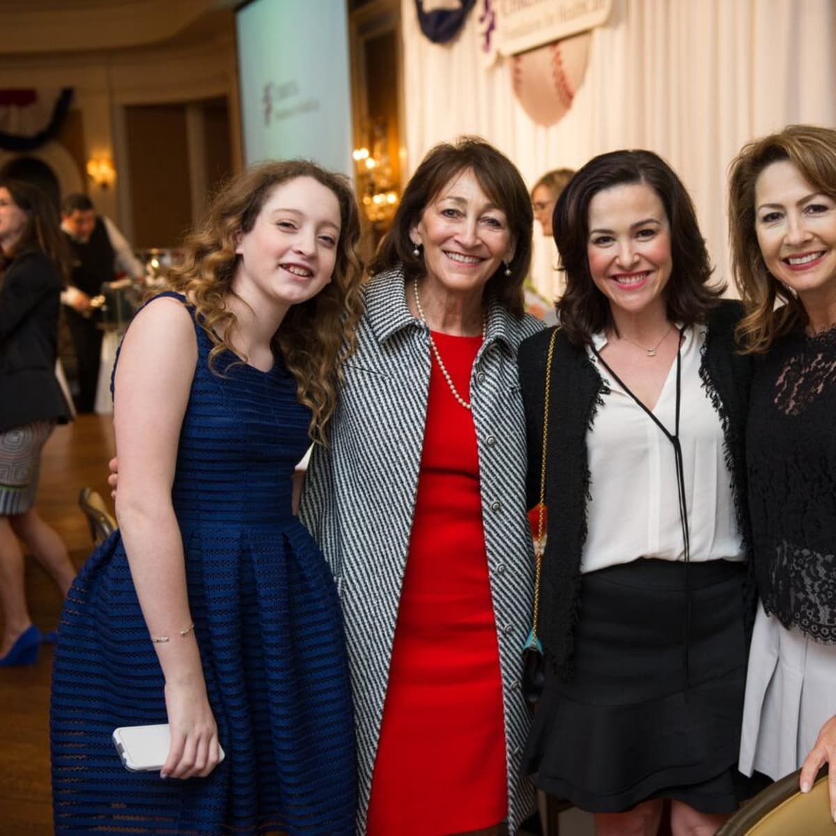 Christus Foundation Luncheon, March 2016, Catherine Roddey, Caroline Forney, Caroline Helander, Wendy Roddy