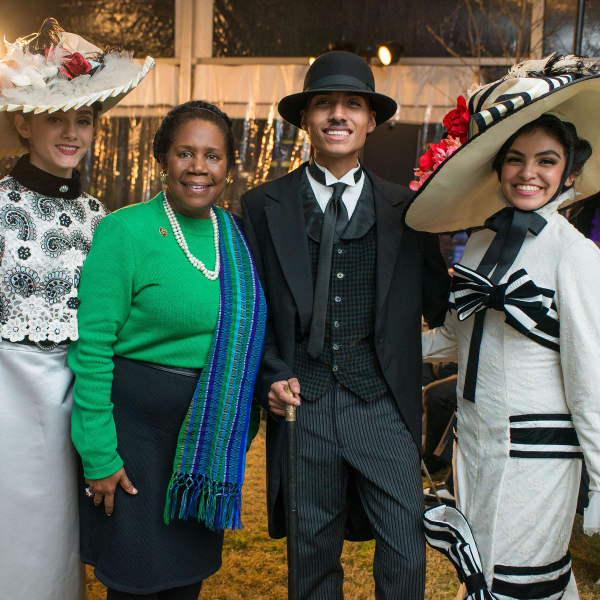 Hermann Park 100th anniversary, March 2016, Alexia Garza, Sheila Jackson Lee, Isaiah Flores, Magbis Perez