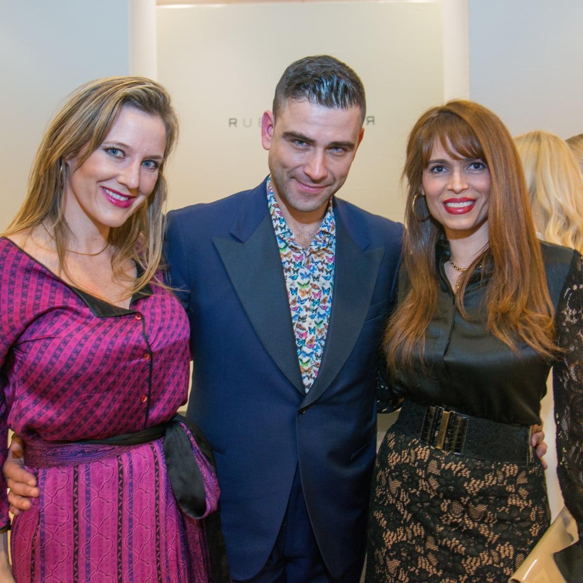 Sally Lechin, Rubin Singer, Karina Barbieri at Dress for Dinner