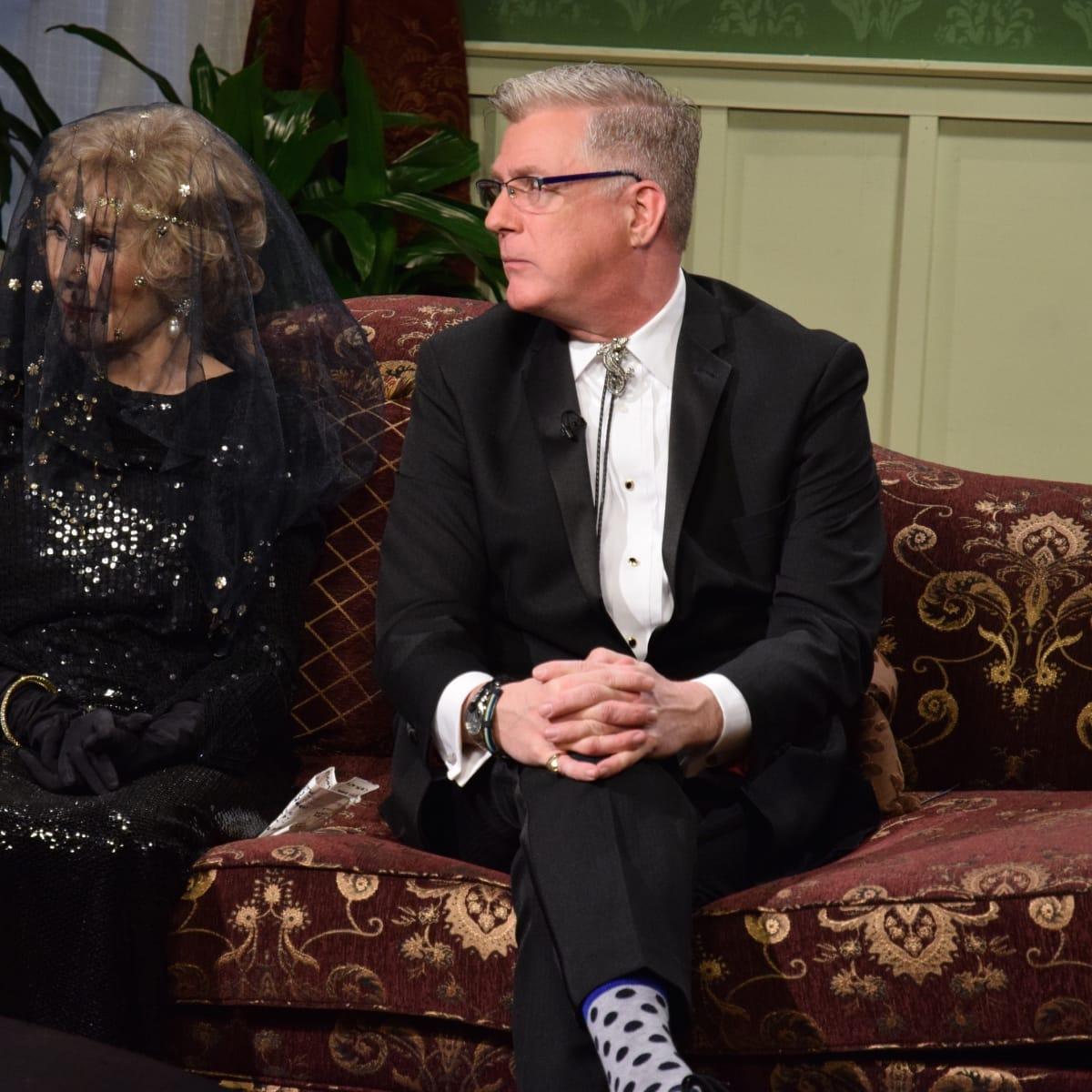 Joanne Herring, St.John Flynn at Manor of Speaking Downtown Abbey final episode