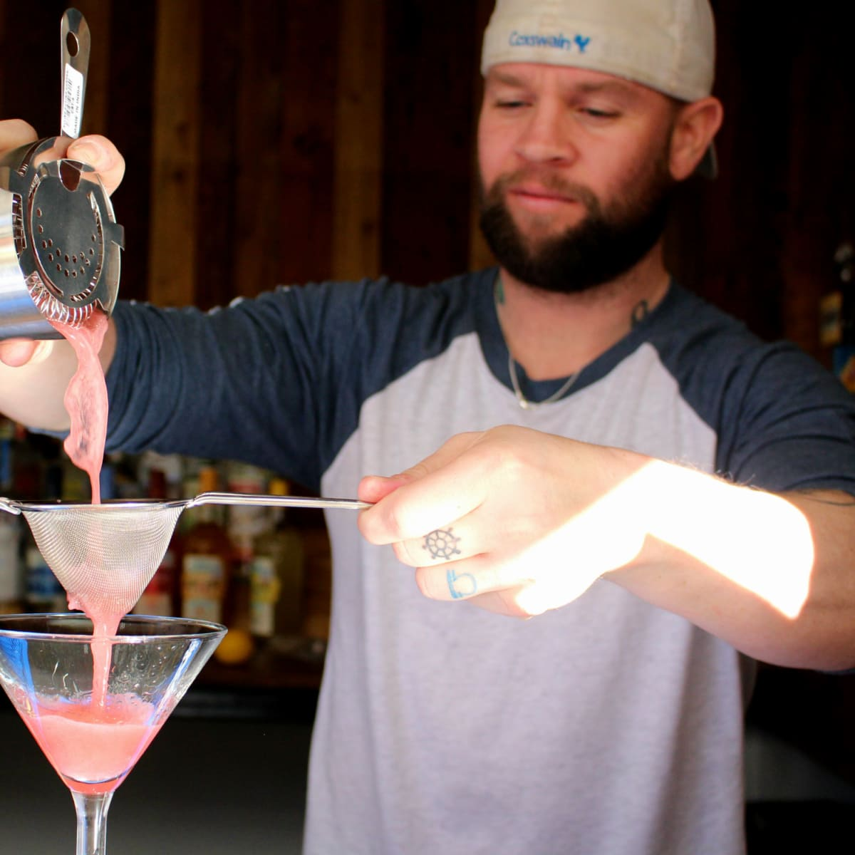Parlor & Yard bar Dunlap ATX west sixth February 2016 cocktail bartender pour