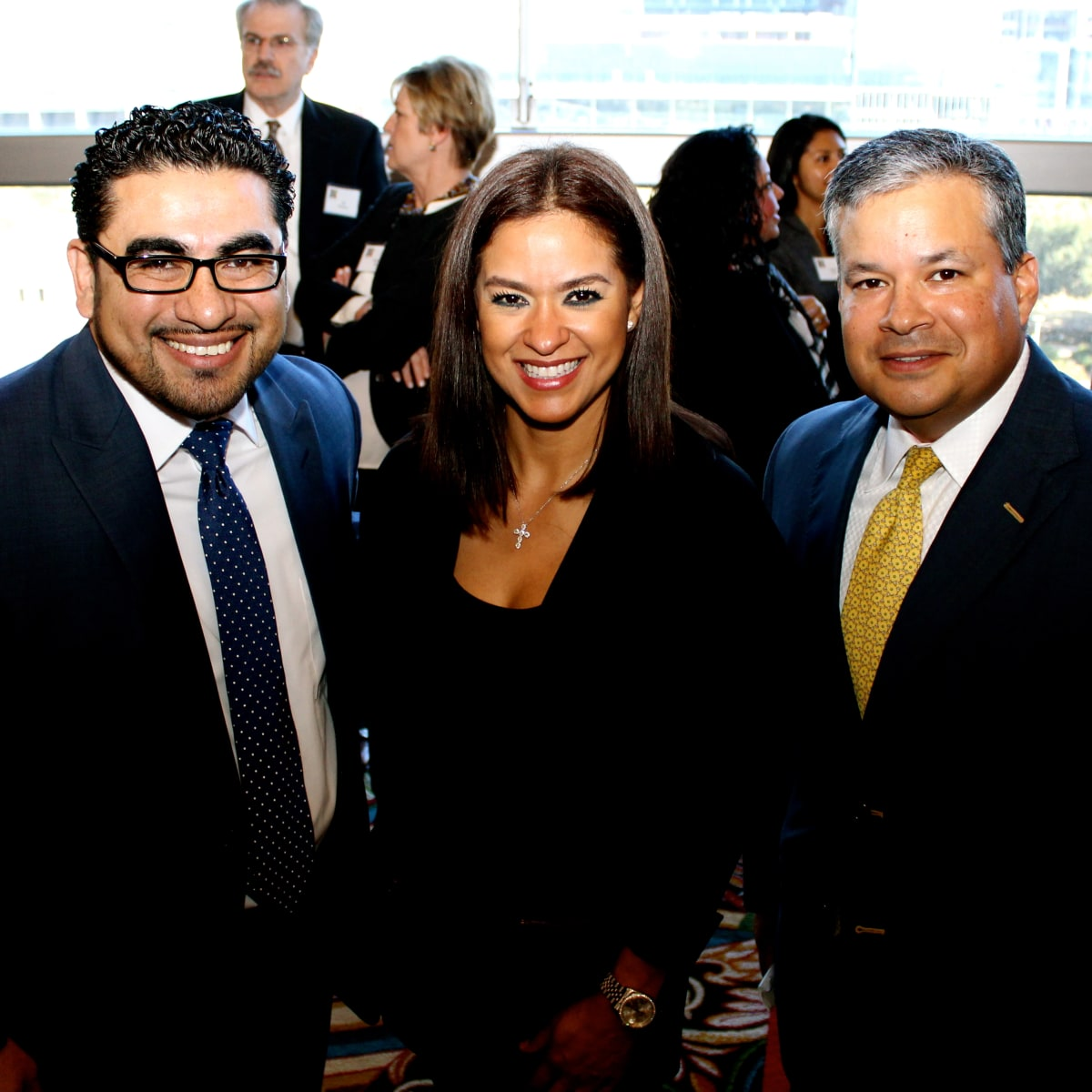 Neighborhood Centers luncheon, Feb. 2016, Armando Walle, Oriana Garcia, David Vasquez