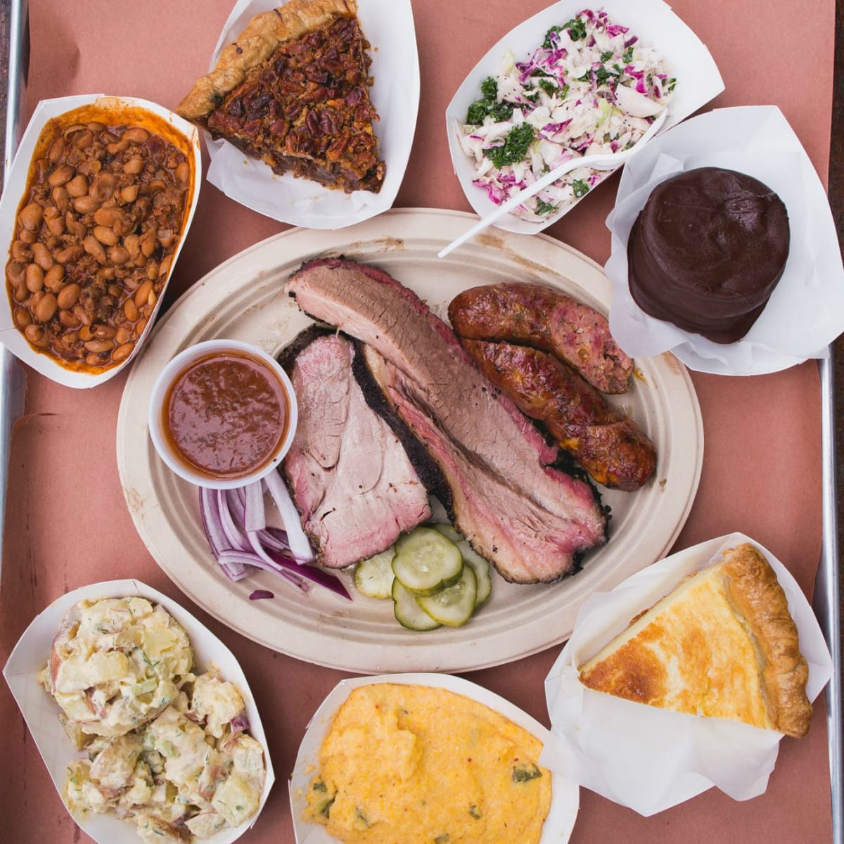 Micklethwait Craft Meats barbecue sides lineup