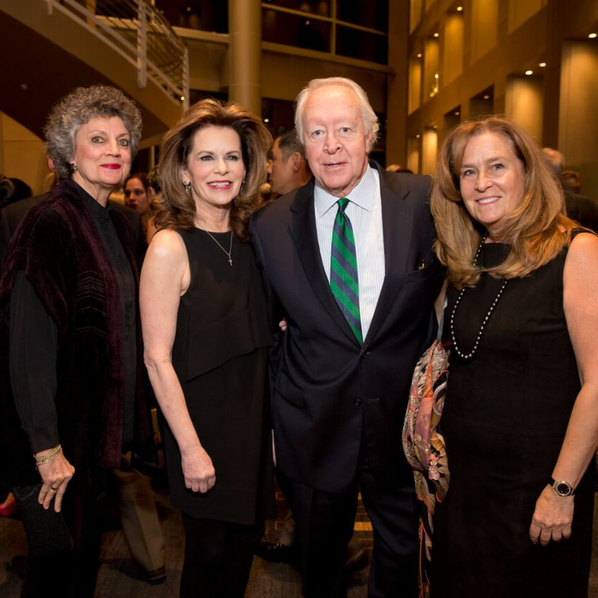 Tennis gala, Feb. 2016, Candy Kyle, Susie Cunningham, Mike McSpadden, Lisa Caledonia