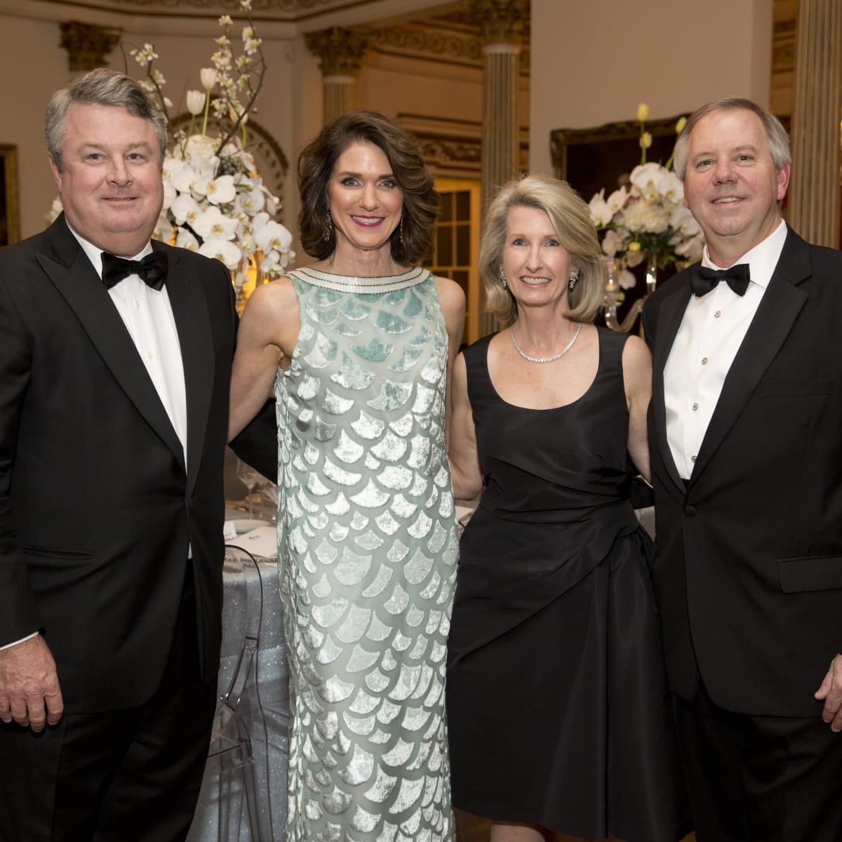Rienzi society dinner, Feb. 2016, Luke and Christiana McConn; Marilyn and Christopher Winters