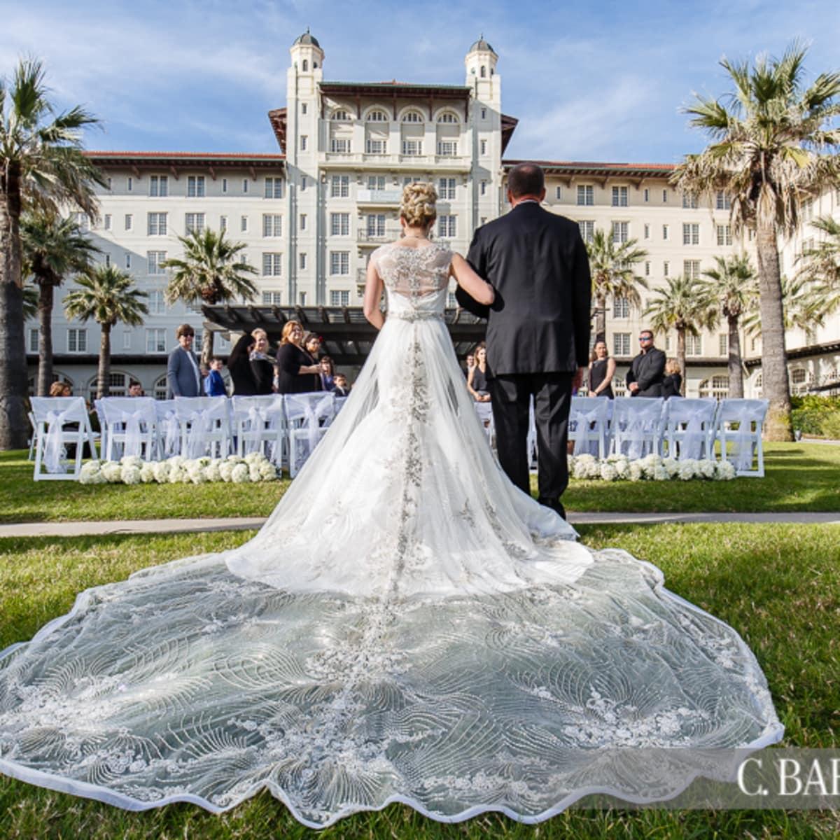 Hotel Galvez Lawn Center wedding