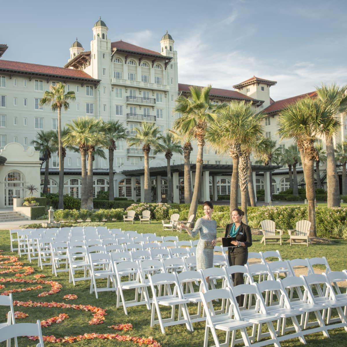 Hotel Galvez Centennial Green wedding