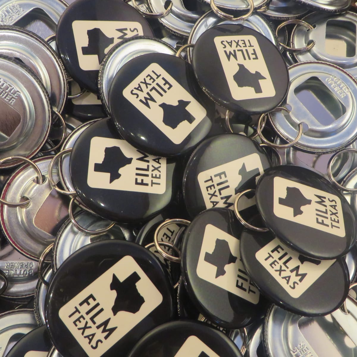 Film Texas bottle openers at Sundance Film Festival reception