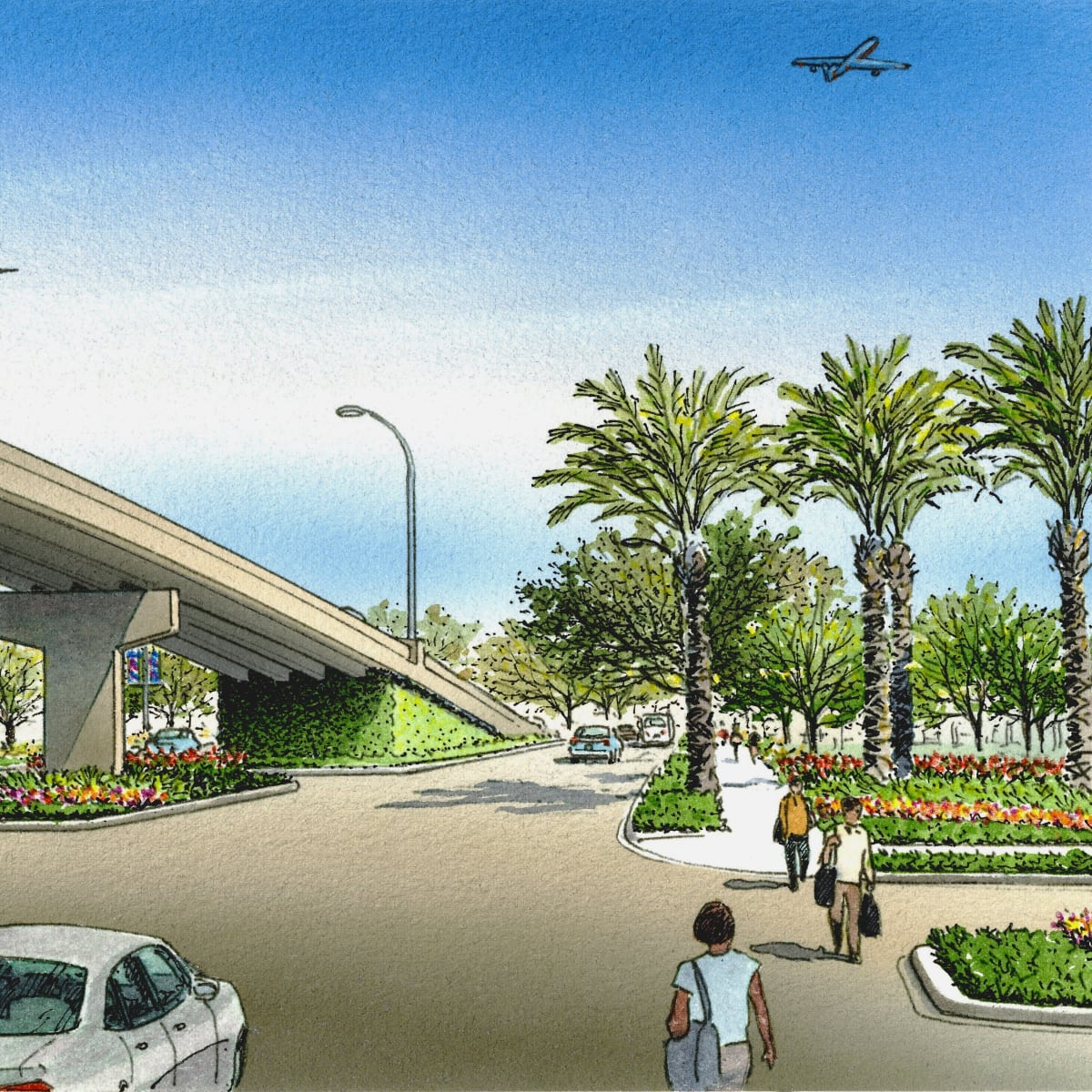 Broadway Boulevard beautification Hobby Airport Scenic Houston