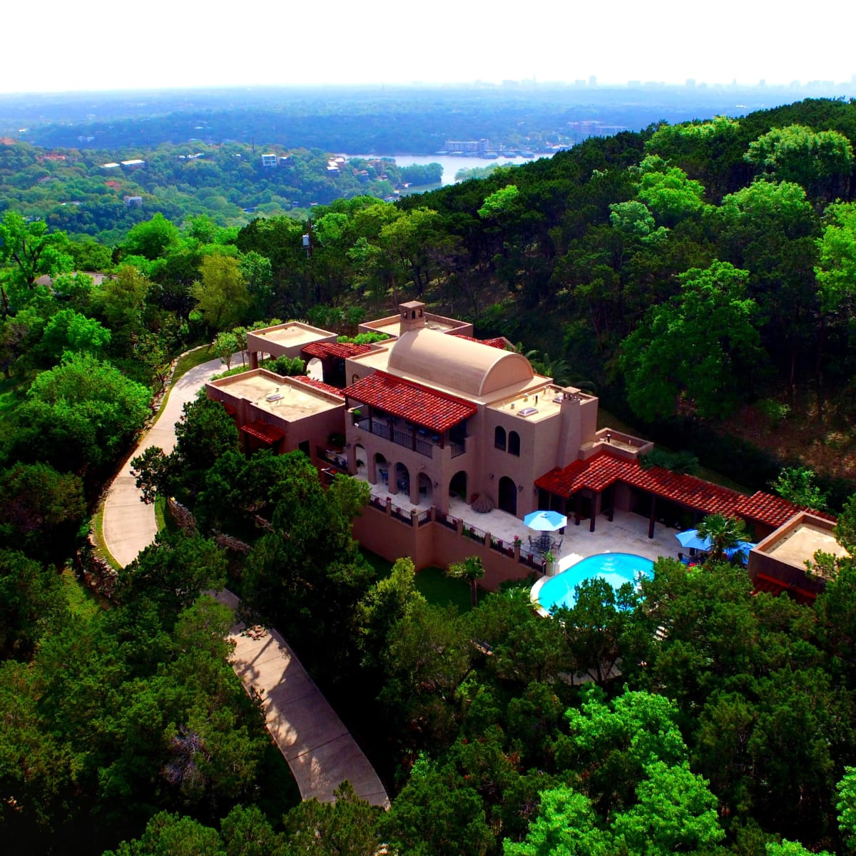 1516 Wild Cat Hollow Austin home house West Lake Hills 2015 aerial