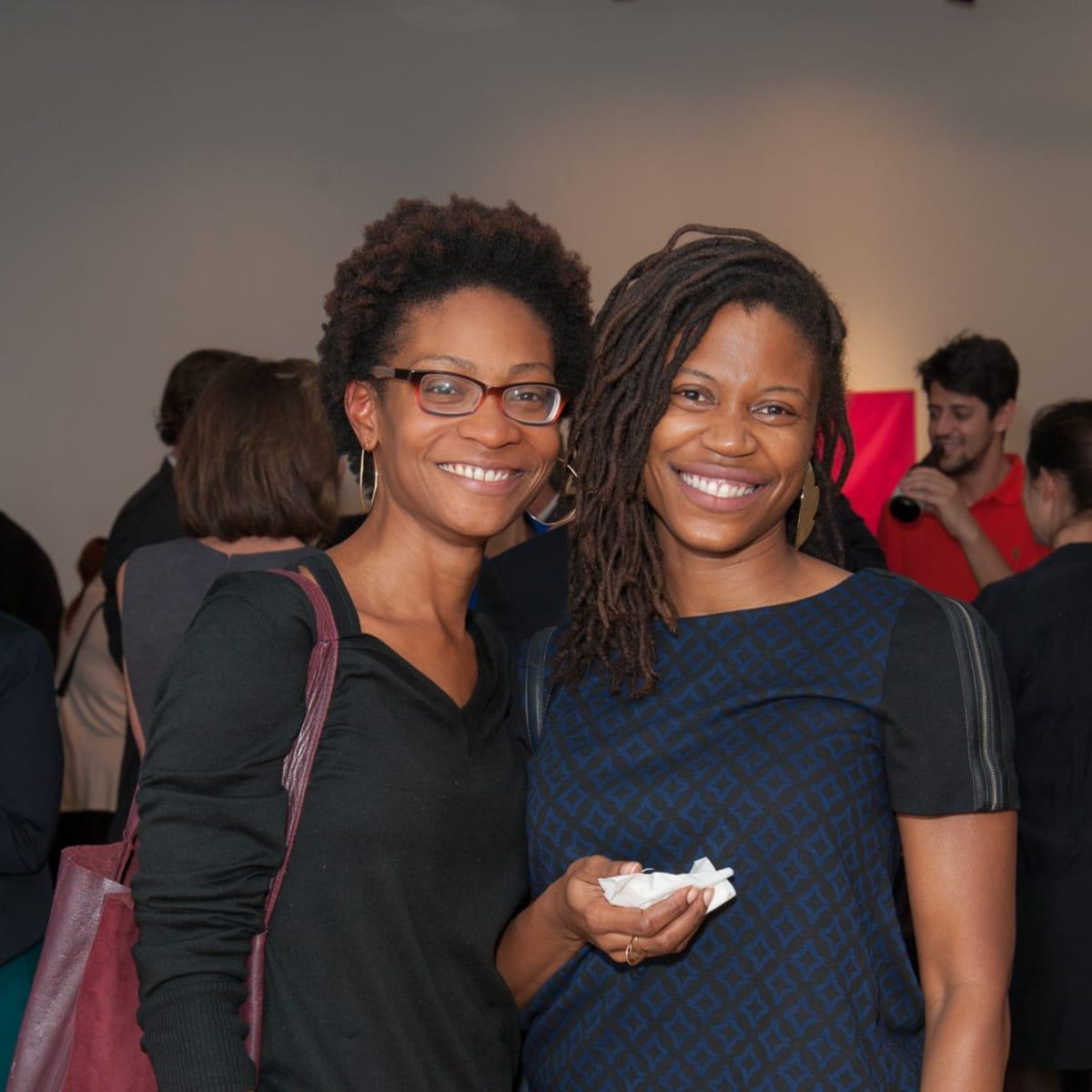 News, DiverseWorks MATCH party, Dec. 2015 Abijan Johnson, M'Kina Tapscott