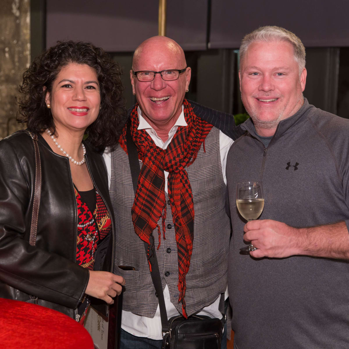 News, Lauren Spanjian party, Dec. 2015, State Rep. Carol Alvarado, Kelly Gale Amen, Greg Bess