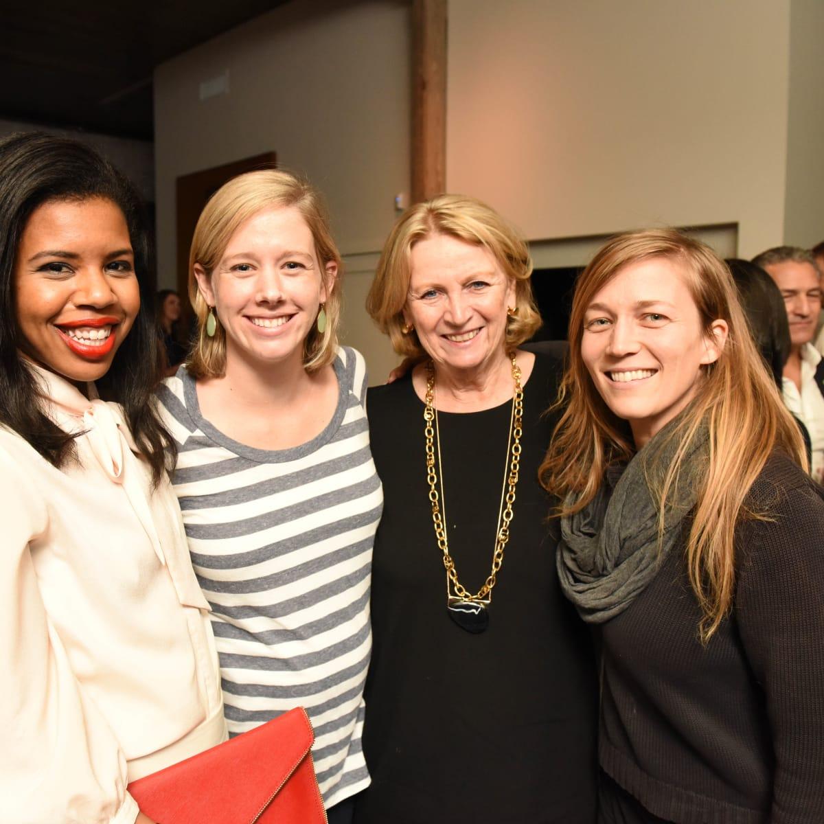 News, Pier & Beam party, Dec. 2015, Claire Cormier Thielke, Mary Senkel, Patricia Laurent, Melissa Eason.