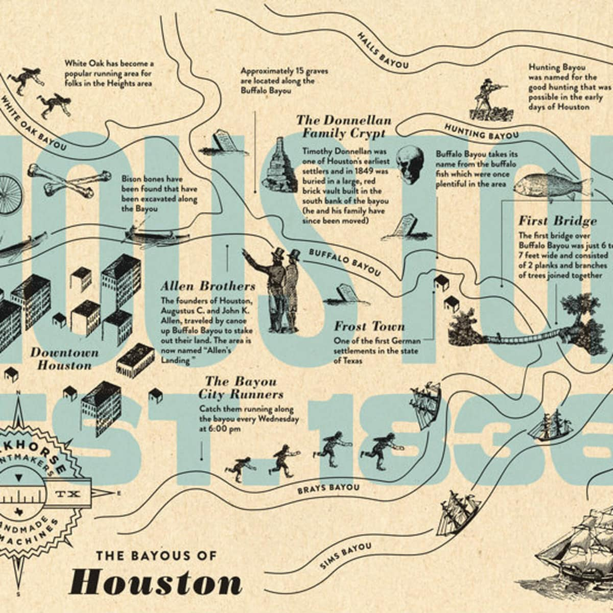 Workhorse Printmakers Bayous of Houston Local series at West Elm