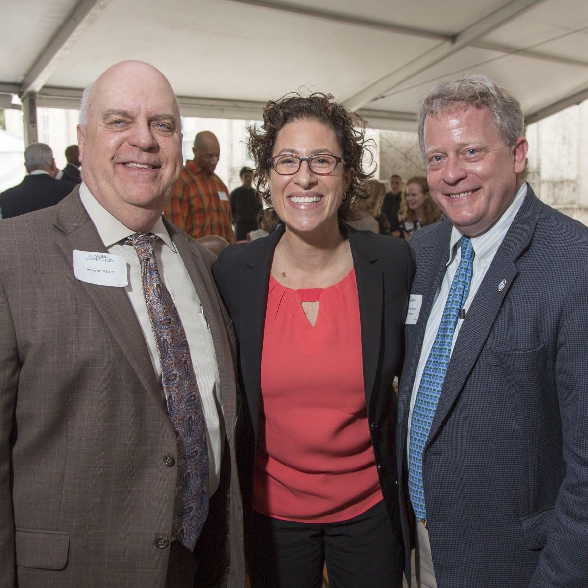 Houston Parks Board Luncheon Wayne Klotz; Laura Spanjian; Council Member David Robinson (1)