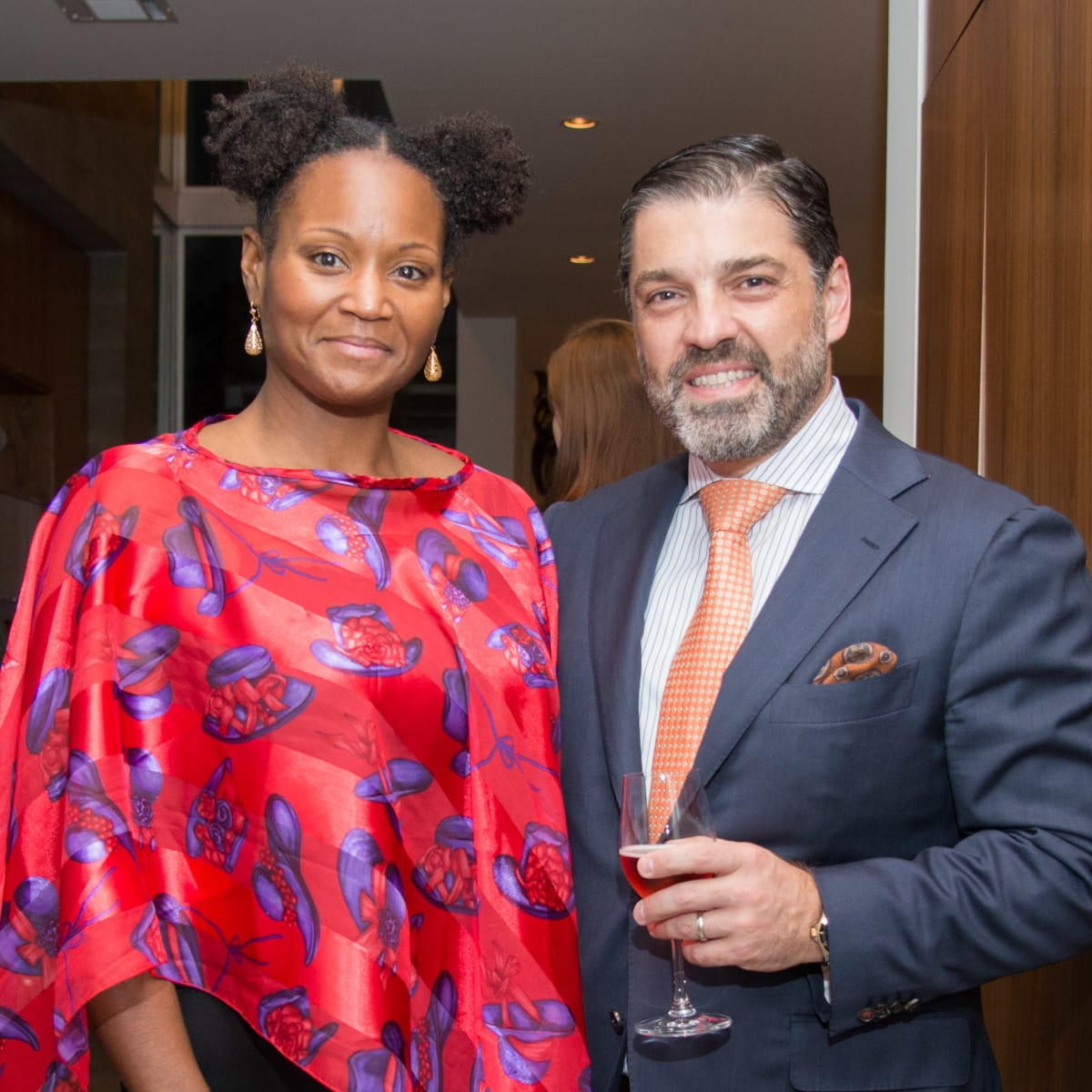 Houston, HGO Young Patrons event, October 2015, Charyn McGinnis, Alfredo Vilas
