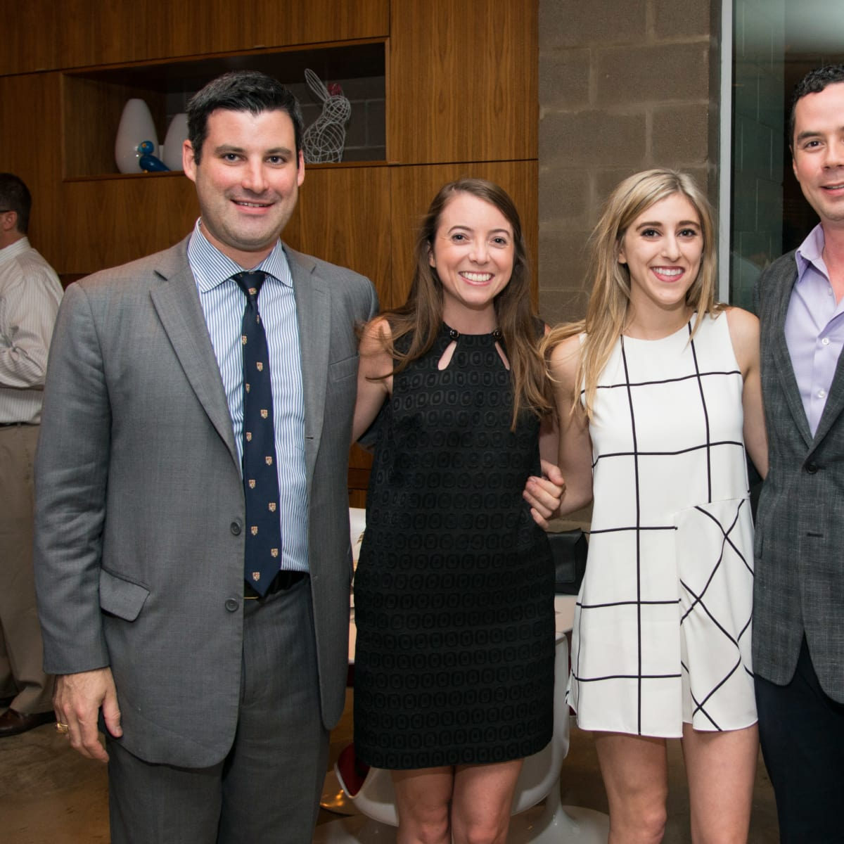 Houston, HGO Young Patrons event, October 2015, Justin Mitchell, Katherine Butler, Corrine Laporte, Claudio Gutierrez