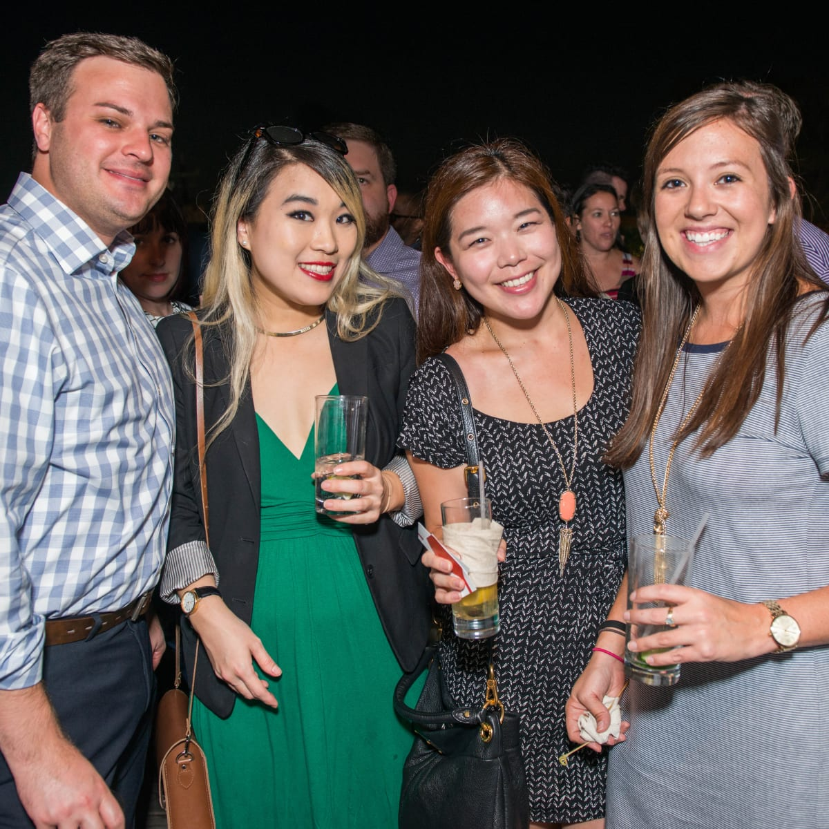 News, CultureMap Social, B&B Butchers, Sept. 2015  Travis Jenner, Lily Chun, Jane Chun, Carolina Keating