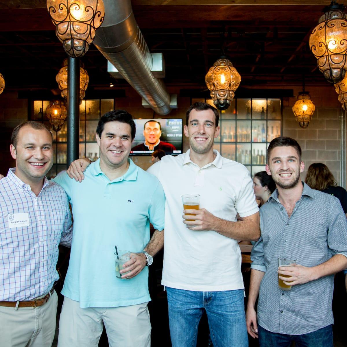 Houston, Casa de Esperanza YP Happy Hour, September 2015, Duncan Balcom, Mike Delaney, Todd Fineman, Patrick Hawkey, Chris Kruse
