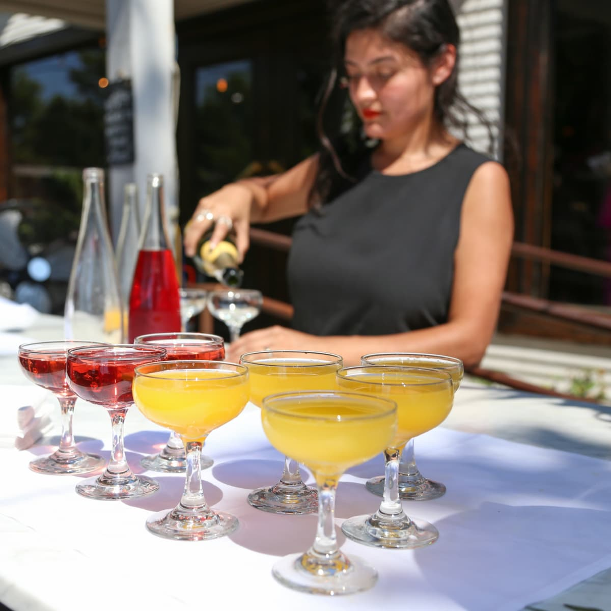 Tribeza Style Brunch 2015 at Justine's Brasserie Mimosas Rose