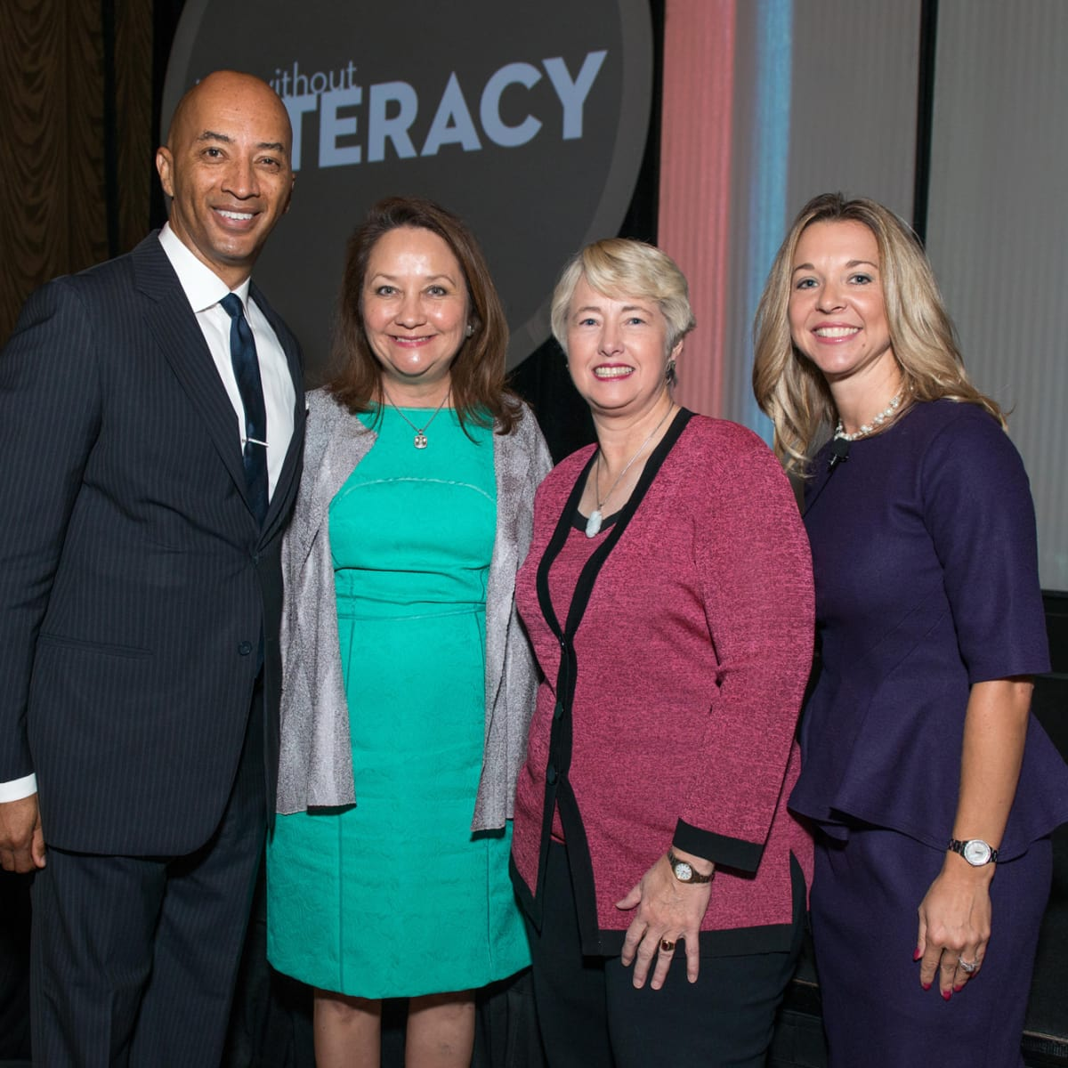 News, Shelby, Life Without Literacy lunch, Sept. 2015, Byron Pitts