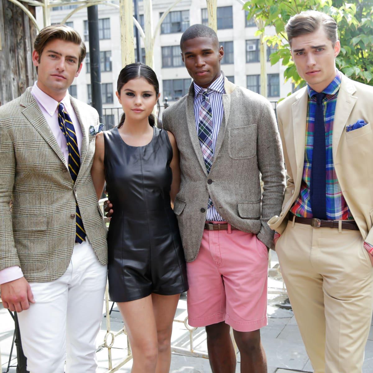 Selena Gomez and Ralph Lauren models at Polo Ralph Lauren presentation at New York Fashion Week