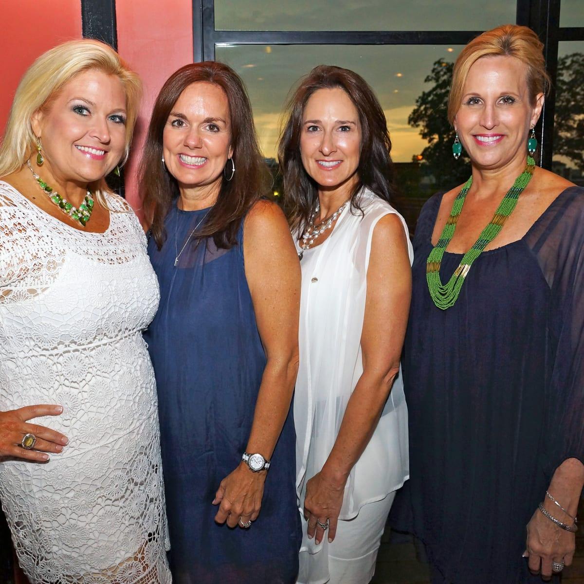 Houston, Roseann Rogers and Lara Bell birthday party, August 2015, Michelle Maresh, Angela Poujol, Lisa Erwin and Vanessa Sendukas