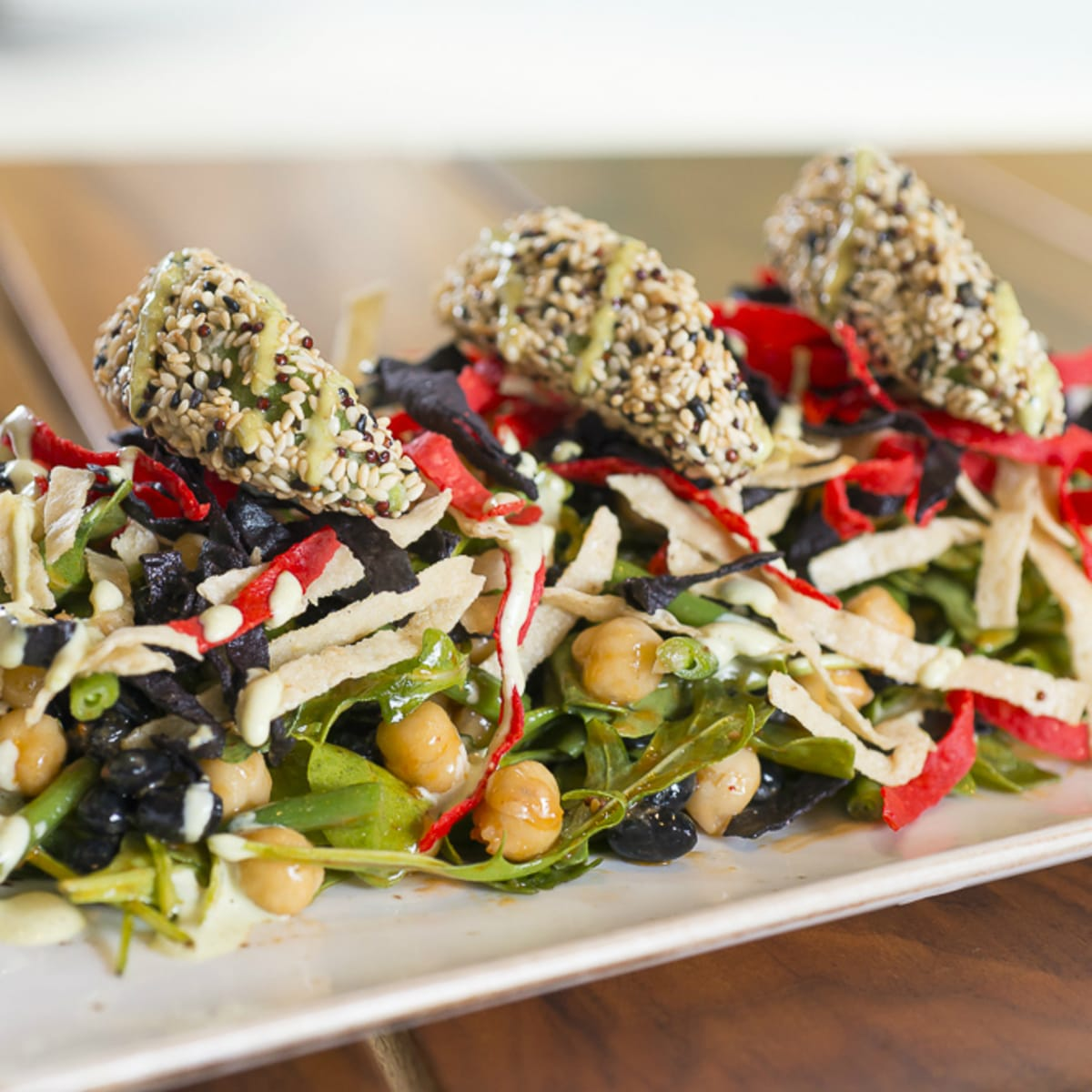 Liberty Tavern Austin bar salad 2015